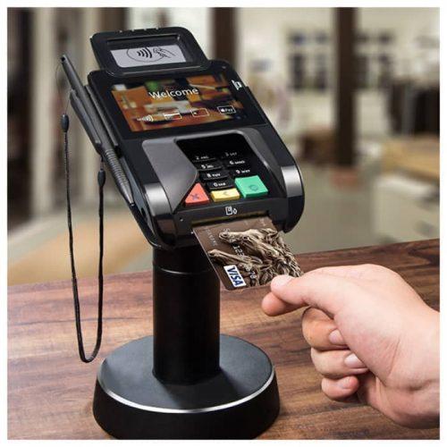 PAX Q30 PIN PAD black on stand insert card 700x700 1